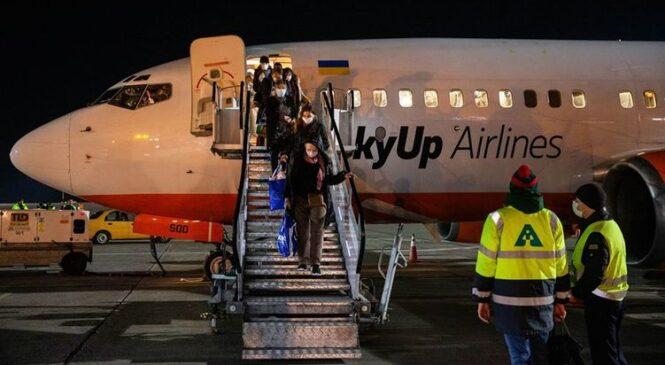 В Борисполь прибыл самолет с эвакуированными из Италии украинцами