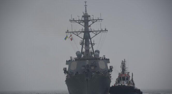 Минобороны РФ отреагировало на появление американского ракетного эсминца USS Ross в акватории Черного моря